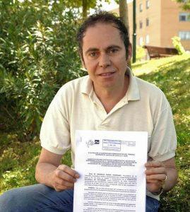 Ismael Rodrigo, presidente de la FEN, tras presentar la demanda ante el TSJCyL de Valladolid