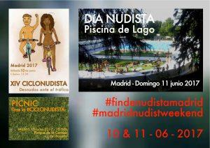 Dia del Naturismo en Lago y ciclonudista en Madrid