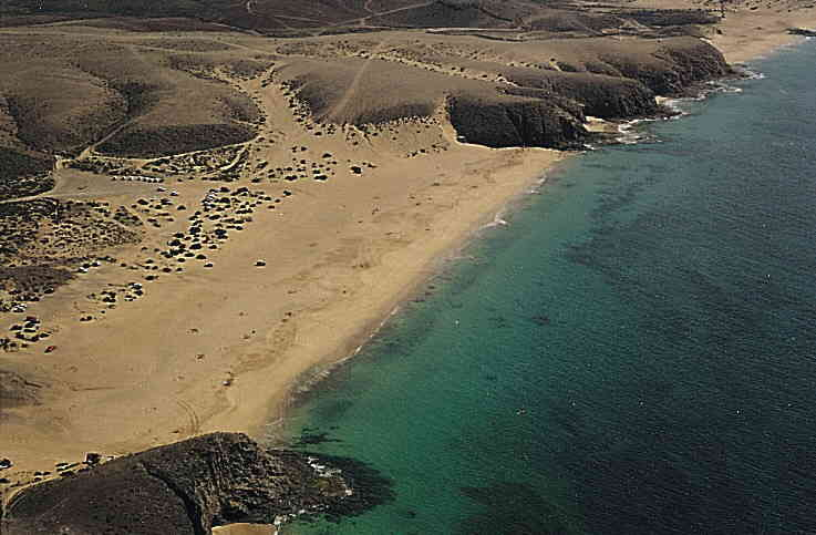 Playa nudista en Lanzarote, Playa Mujeres