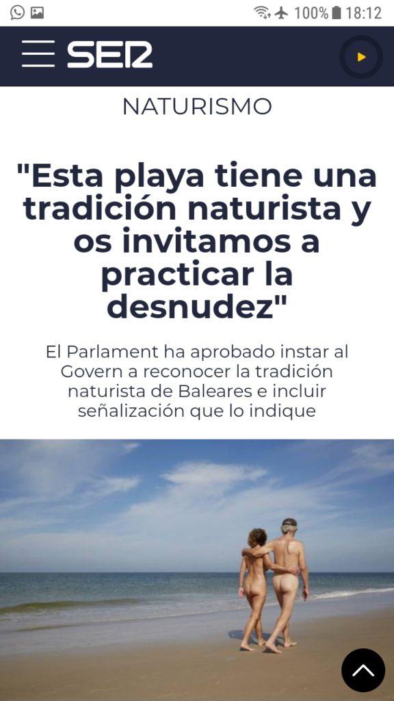 SER nudismo Baleares