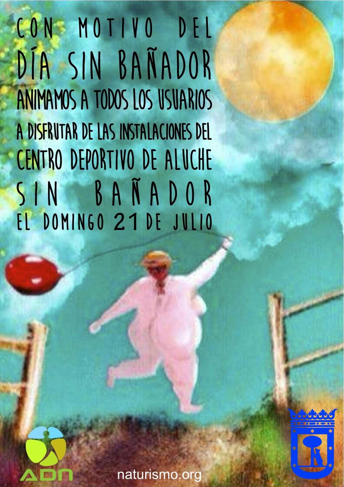 Aluche 21 de julio día sin bañador 2019. Madrid. ADN