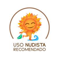 Uso Nudista Recomendado. Logotipo-imagotipo FEN. Versión con círculo.