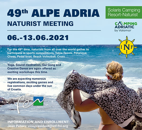 49 encuentro naturista Alpes-Adriático en Croacia. 6 al 13 de junio 2021.