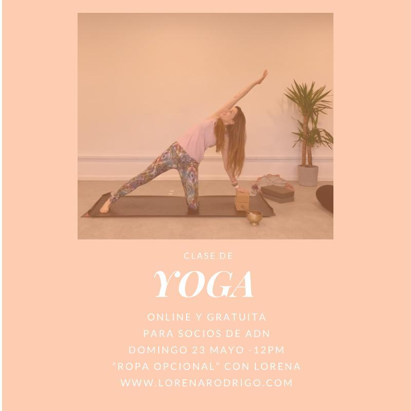 Yoga virtual en Zoom con Lorena para ADN